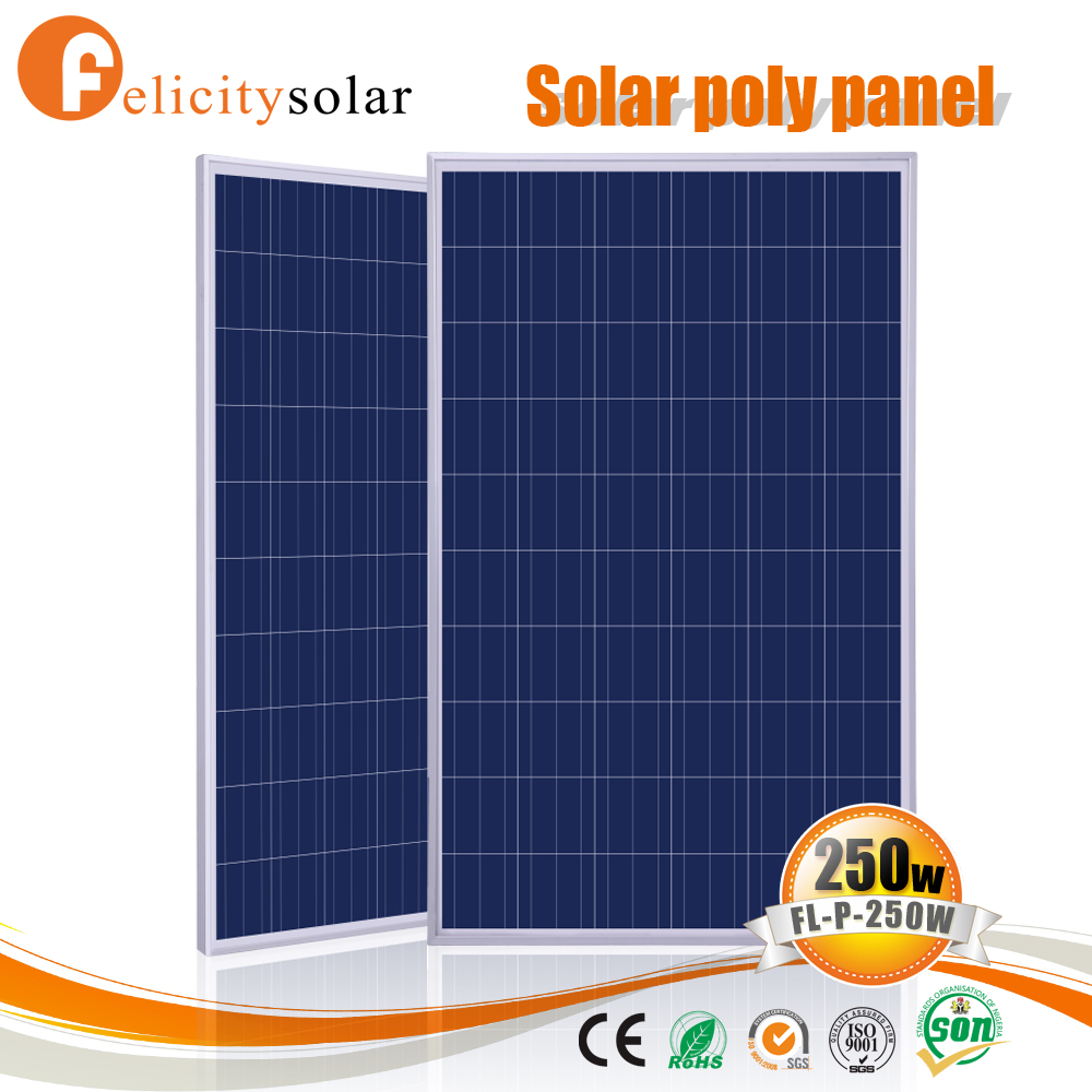Conventional frame 250w poly crystalline solar panel for Senegal