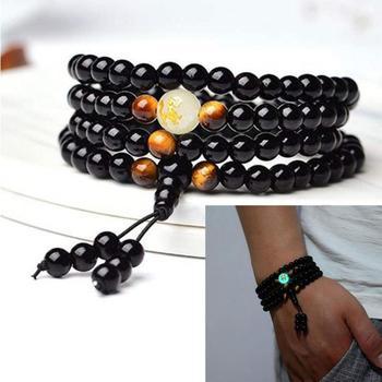 Chinese Zodiac Black Buddha Beads