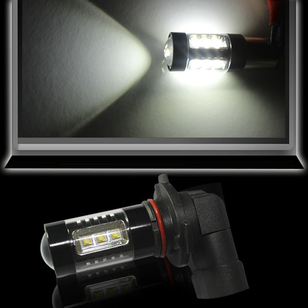 80W 780Lm H7/H8/H11/9005/9006 fog light for toyota bmw e36 picanto led fog light bulbs with projector lens four wires