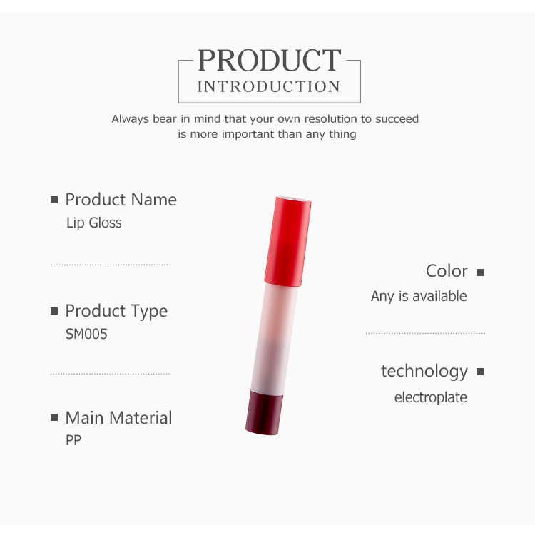 wholesale plastic empty makeup packaging lip gloss tube lip cream container tube