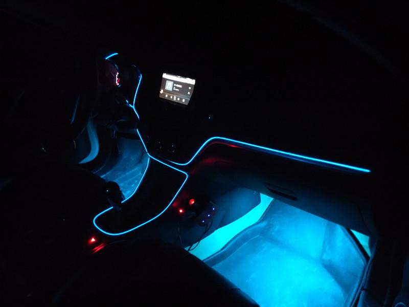 Diameter 2.3mm Size Neon El Wire Novelty Light For Car Boat ...