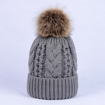 New Winter Wholesale Stock Multi-color Cable Knit Hat with Pom Poms Red  Christmas hats 9bcc53a2c