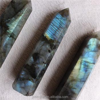 flashy labradorite stone crystal healing tower point pillar wand