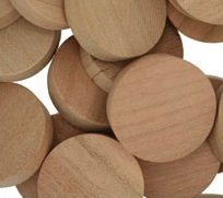 "WIDGETCO 1"" Cherry Wood Plugs, Side/Face Grain"