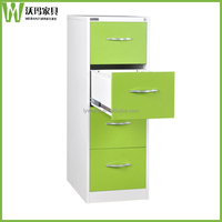 Modern green index card file cabinet knock down steel drawer cabinet models office filing cabinet
