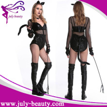 2016 Fancy Donne Sexy Lingerie Nera Animal Costume Catsuit Maschera di Halloween Fuori Animal Costume