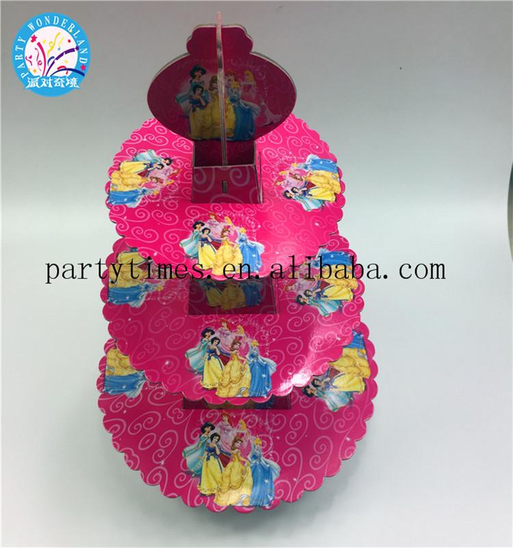 1set Cartoon Princess Kids Birthday Party Decoration Cake Stand