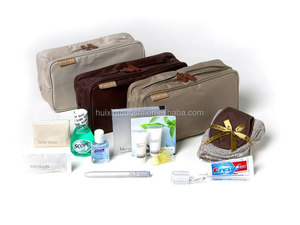Luxury travel amenities kit for airlines with bag