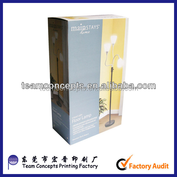 new design hard paper lamp packing box made in Dongguan