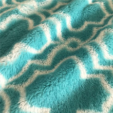 Hot Sale Textile Garment Toys 100% Polyester Long Pile Printed PV Plush Fleece Fabric