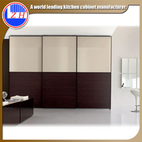 Guangzhou melamine MDF plywood particle board sliding door modern wardrobe furniture