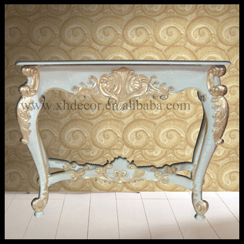 French Gold Ornate Wall Table Console Foyer Console Tables