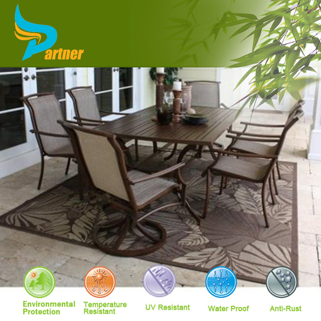 High Quality PE Rattan Salon Furniture Phoenix With UV Certificate Plastic  Parts For Benchcraft Rattan Furniture