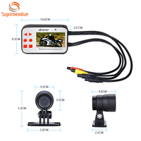 High Quality Waterproof Dual Lens Motorcycle DVR Camera Full HD 1080P Motorbike Camera A13