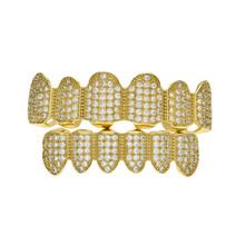 Мужские зубные грили BOAKO Rapper, с одним зубом, с золотыми зубами, в стиле панк, ювелирные изделия, Z5(Китай)