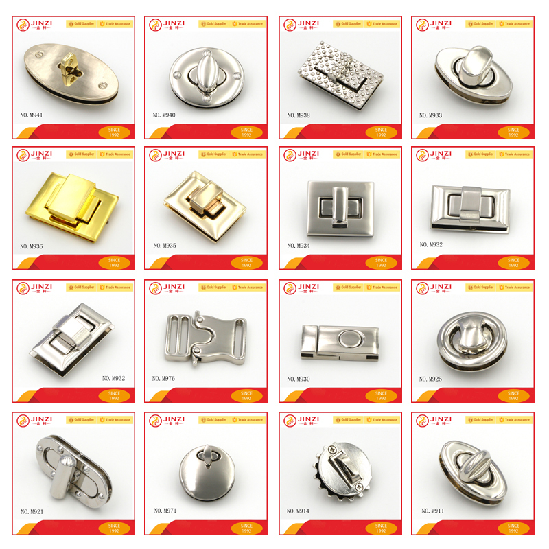 Metal Handbag Lock Decorative Locks Purse Hardware