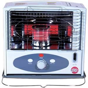 Modern 10,000 BTU Radiant Heat Indoor Kerosene Heater, Automatic Reset, One-Touch Ignition, White
