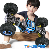 Rock Crawler 1:10 Scale Double-sided 2.4G RC Car One Key Transformation All-terrain Vehicle Climbing Car Remote Control Toys