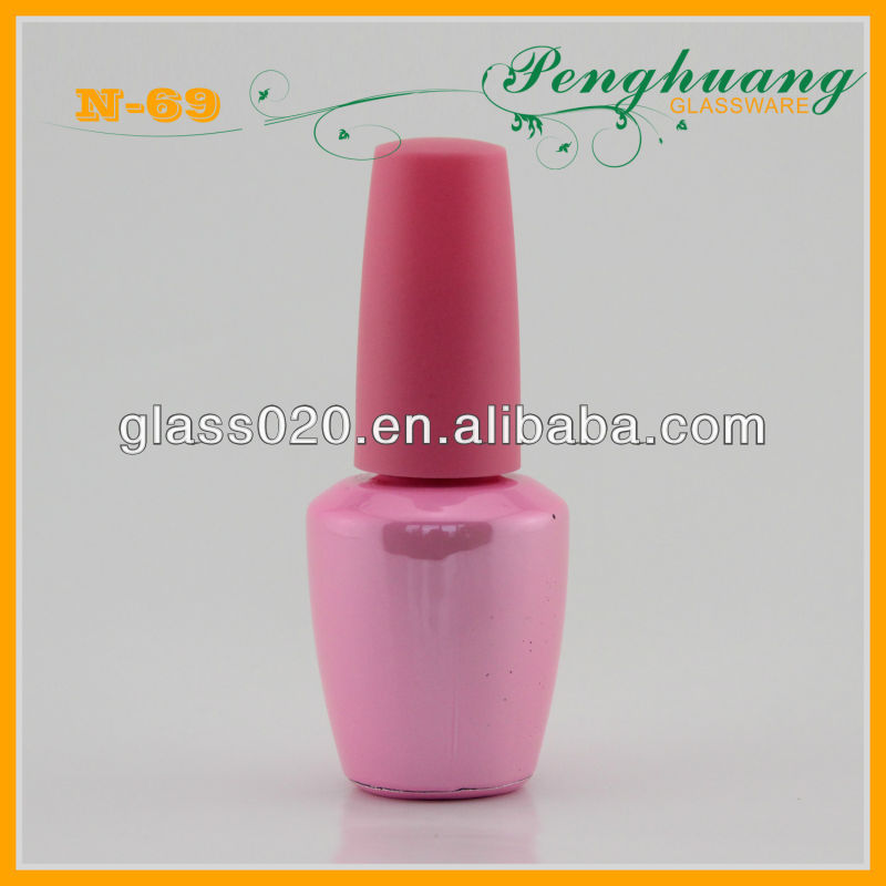 tower-shaped nail polish gel glass bottle