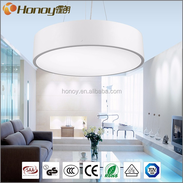 Zhongshan manufacturer hanging lighting acrylic modern chandelier round shaped led pendant light
