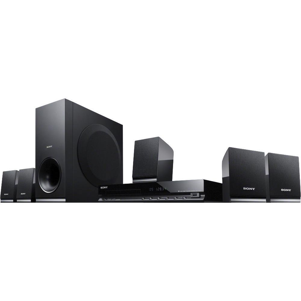 Sony 5.1 Channel 300 Watt DVD Surround Sound Home Theater System Plus Cube Cable 6Ft High Speed HDMI Cable