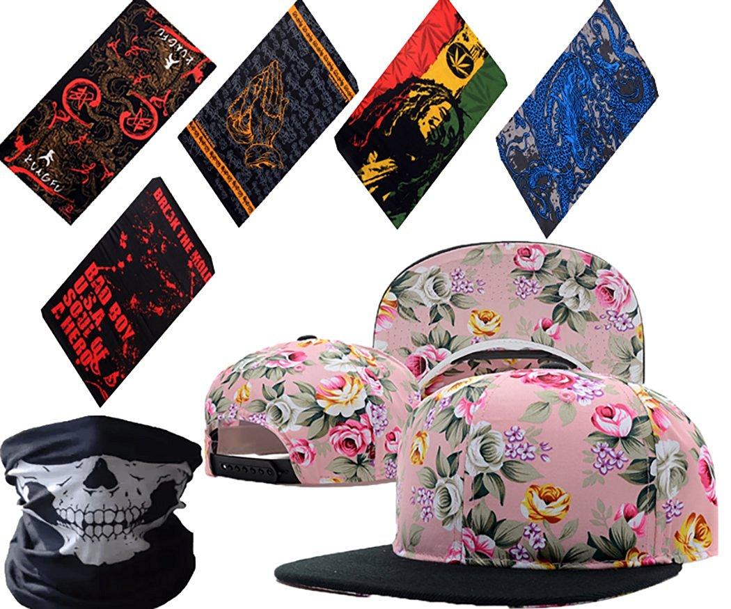 19d824bec60d0 Get Quotations · Men Women Fashion Plain Floral Flower Vintage Leather  Snapback Cap Hip-Hop Hat