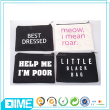 Wholesale Canvas Cosmetic Bag Customized Color Makeup Bag For Girl