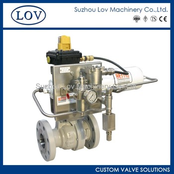 Pneumatic Actuator Flanged End Ball Valve