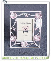 LC-84378 Metal White Home /Wedding Decorative Standing Picture Photo Frame