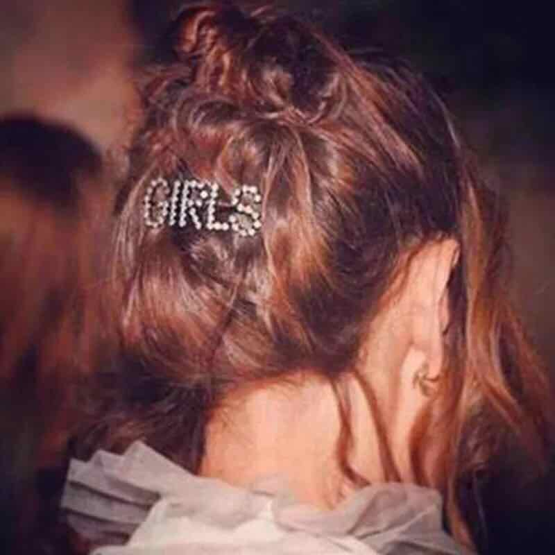 new fashion hot sell rhinestone letter hairpin