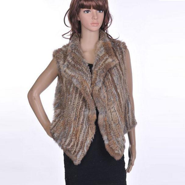 fbb71de032 Get Quotations · 2015 the new 100% real knit rabbit fur vest women female  fur shawl wrap hot
