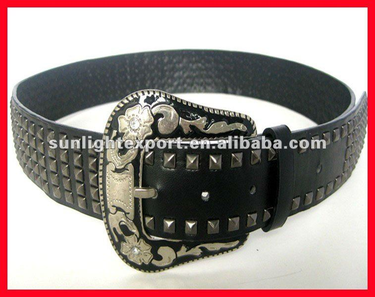 fashon men's metal leather belt