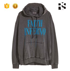 Unisex Fashionable Quality Distressed Pullover Hoodie Sweatshirt Set