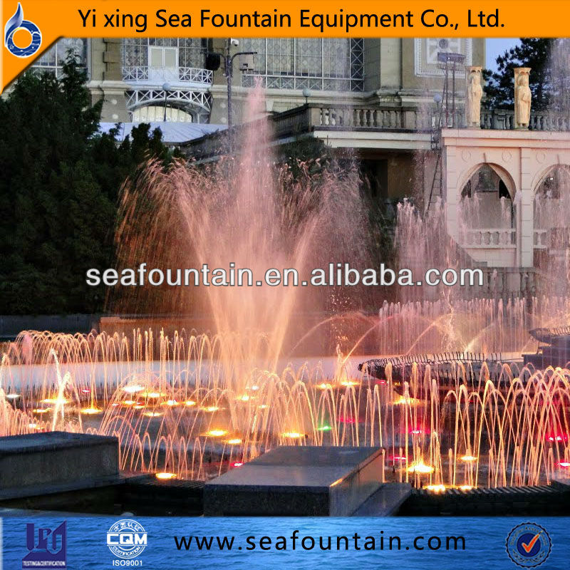 Factory supply changeable color led music dancing fountain show
