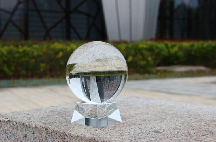 Wholesale Optical Slant Square crystal glass Clear Stand Base For 40mm 60mm 80mm 100mm 200mm k9 Crystal glass Balls Sphere