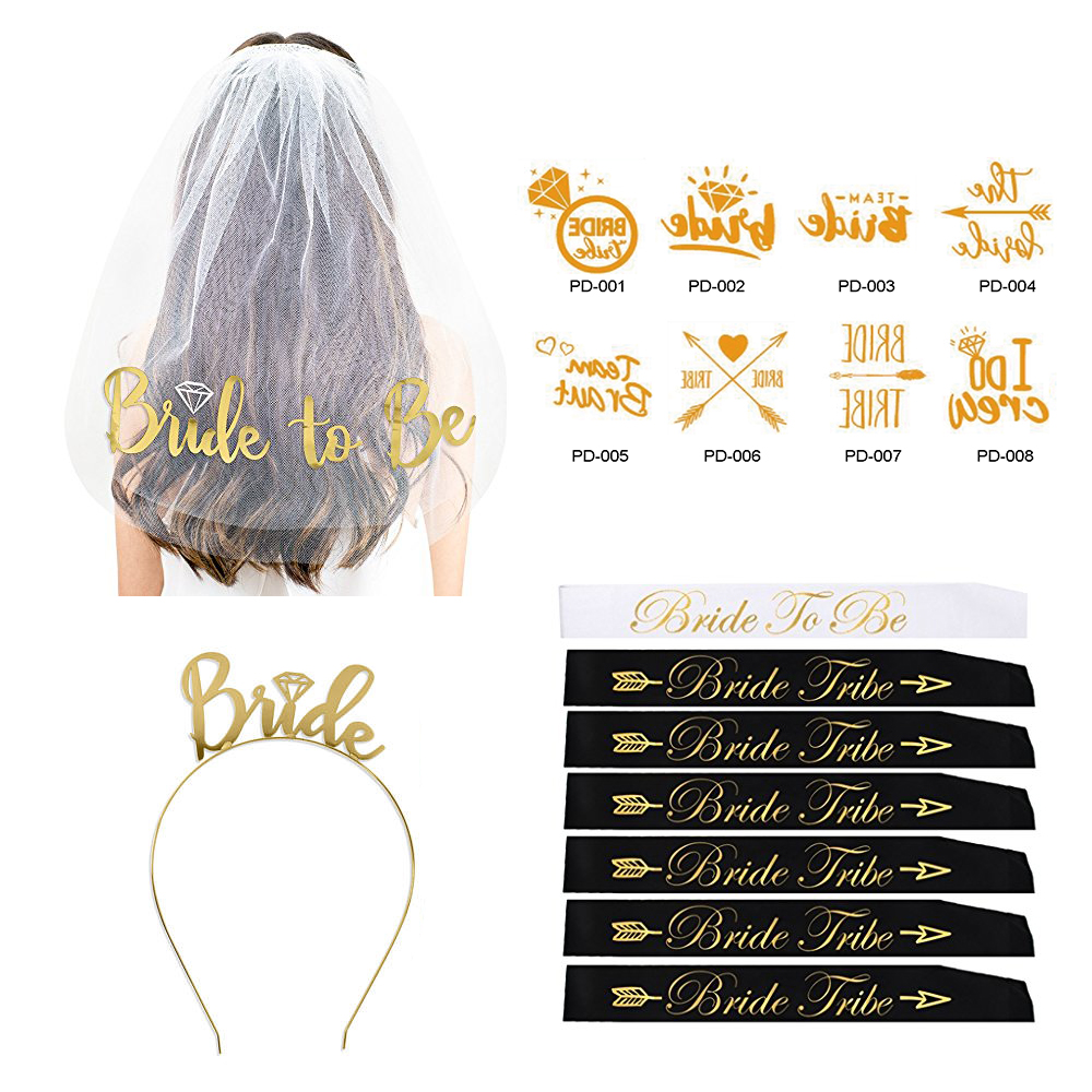 Custom Tiara Kit per Addio Al Nubilato Bachelorette Party Decorazioni Forniture