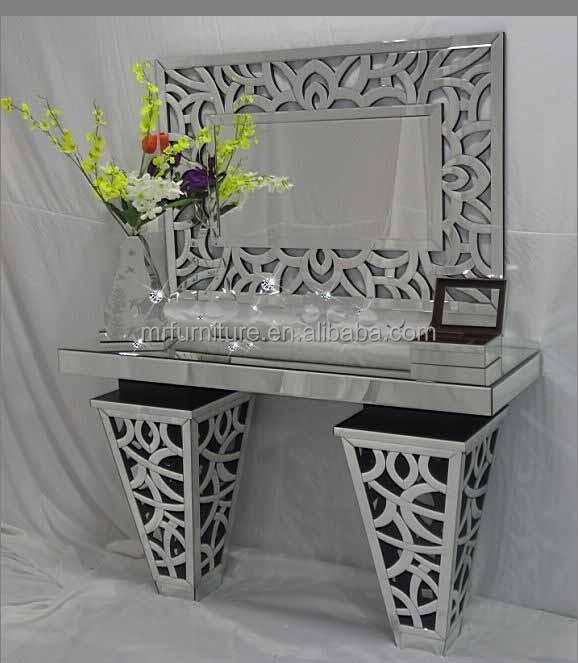 Woonkamer glazen spiegel console tafel/ijdelheid meubels-glazen tafels ...