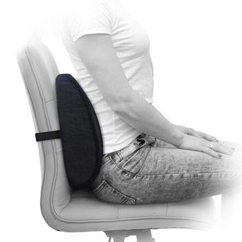 Ventilating Mesh Lumbar Roll Chair Back Support Alleviates Lower Back Pain  Lumbar Pillow