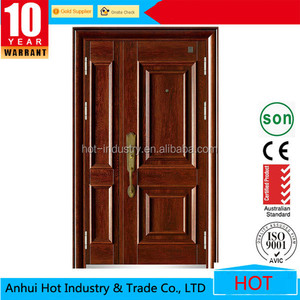 Mom And Son Sample Picuture Door Latest Cheap Metal 6 Panel Ghana One and Half Door