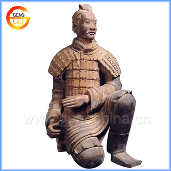 Hot Sales Terracotta Warrior Garden Statue For Resin Warrior