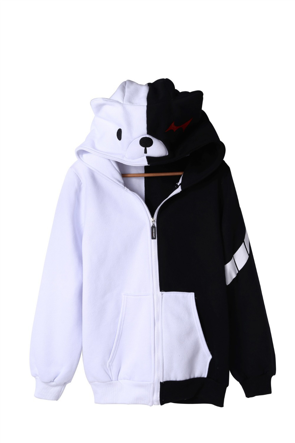 Cute New Danganronpa: Trigger Happy Havoc monokuma cosplay costumes Zipper hooded thicker anime Hoddies