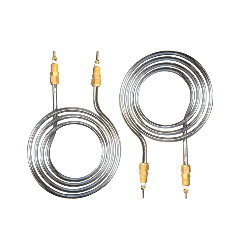 Customized Spiral Type Swimming Pool Heater Tubular Heating Element with Brass Fittings