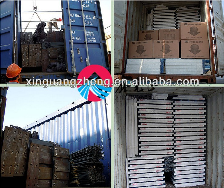 Low Cost EPS Sandwich Panel Prefabricated Steel Warehouse
