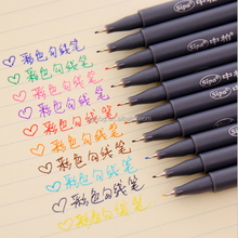 Non-toxic 10 color Marker fine liner marker pen, cheapest fine line Permanent Pen,Secret Garden best drawing pen