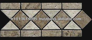 Noce Clic Travertine Toros Black Border Decorative Wall Tile Turkish Natural Stone Design Product On Alibaba