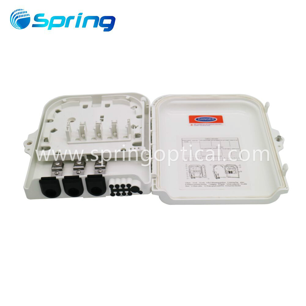 Fiber Wall Mount 8Core Fiber Optic Terminal Box