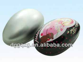 metal tin egg box