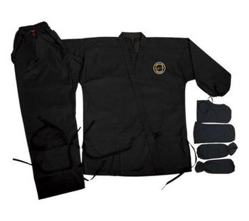 Ninja and Hapkido Uniform made of 100% cotton sizes 000/110 to 7/200