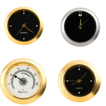 Round Insert Clock Sold In Bulk Silver And Gold Cheap