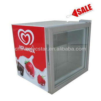 55l Countertop Impulse Glass Door Display Freezer Refrigeratorsmall